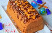 Bûche au chocolat et pain d'épices