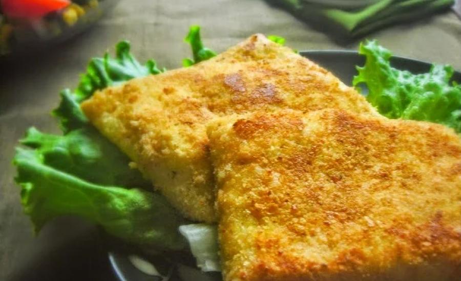 TounsiaNet : Crêpes panées, crevettes sauce béchamel