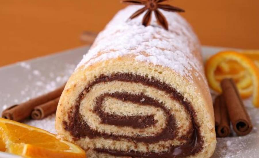 TounsiaNet : gâteau roulé au chocolat