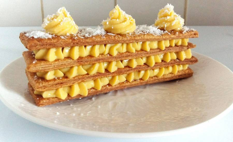 TounsiaNet : Mille-feuille citron gingembre