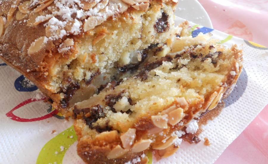 TounsiaNet : Cake au poire et chocolat