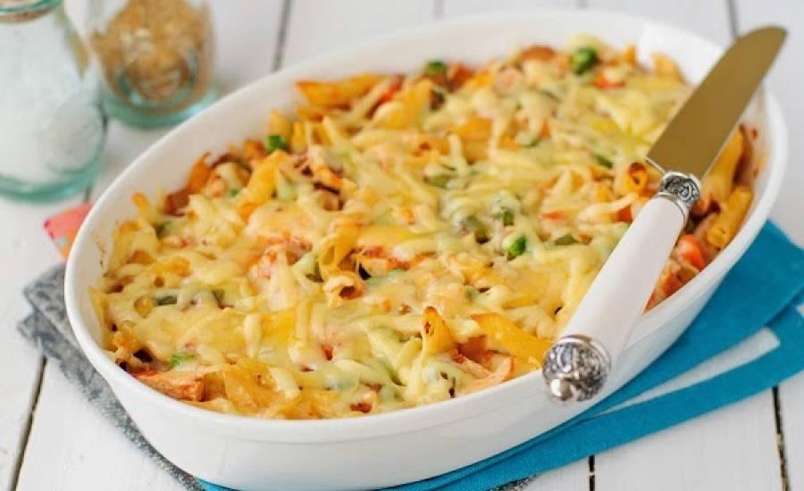 TounsiaNet : Gratin de pâte poulet champignons