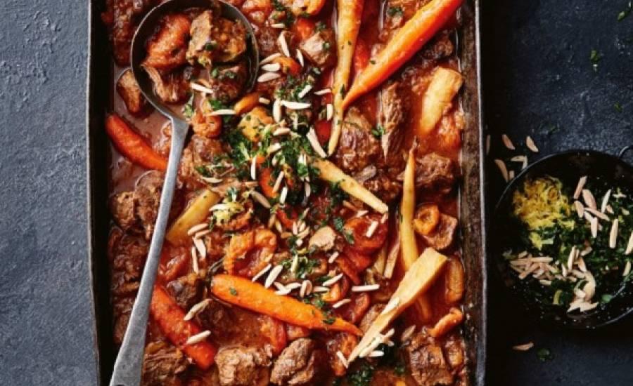 TounsiaNet : Tajine d'agneau aux abricots sec au four
