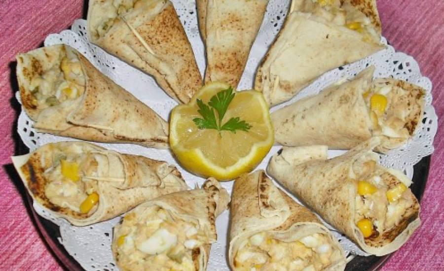 TounsiaNet : Cornets de pain libanais au thon