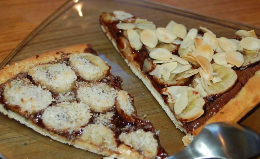 TounsiaNet : Pizza sucrée nutella-banane