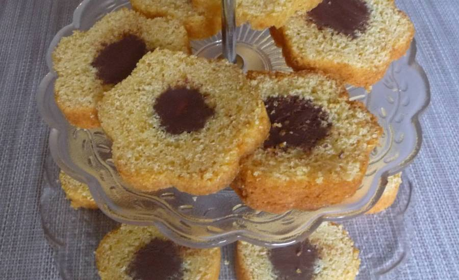 TounsiaNet : Cake vanille cœur fondant au chocolat