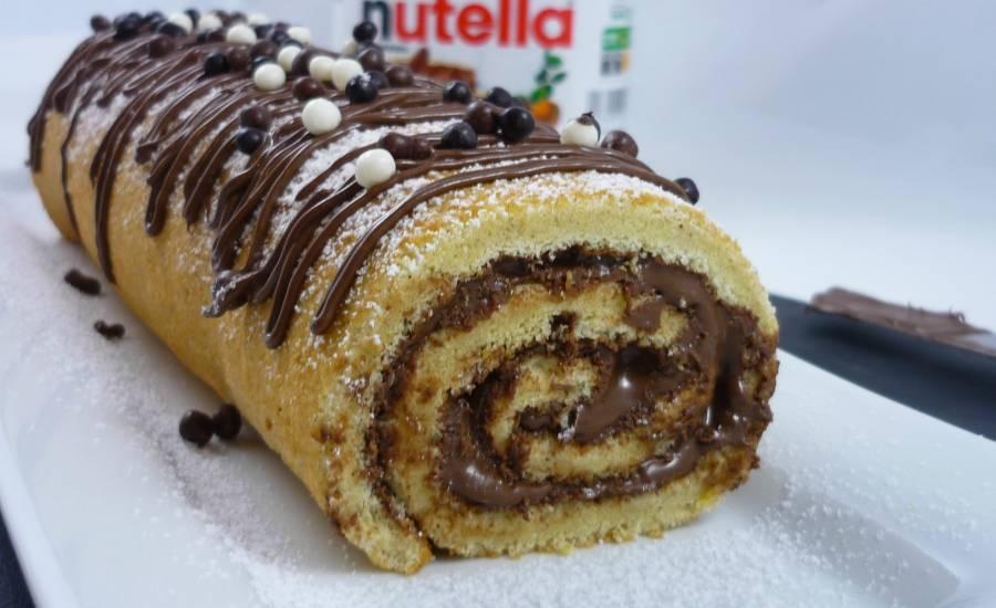 TounsiaNet : Gâteau roulé au nutella