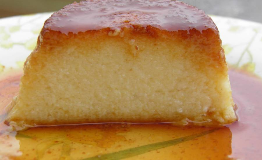 tounsia.Net : Gâteau de semoule au caramel