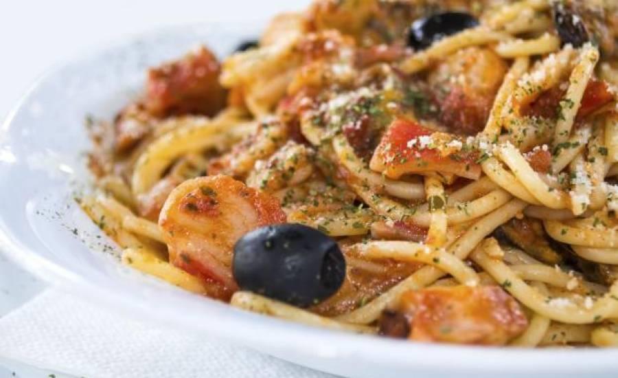 TounsiaNet : Spaghetti aux crevettes