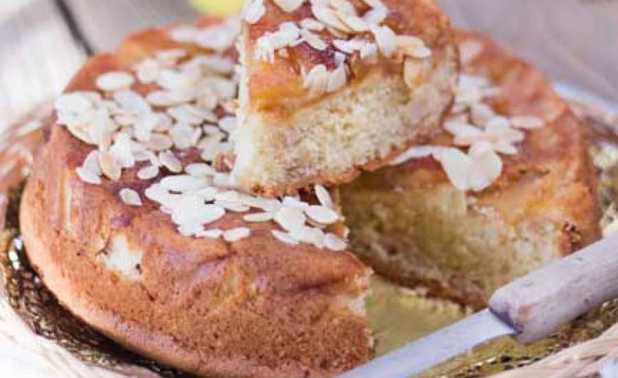 TounsiaNet : Gâteau au yaourt et aux pommes caramélisées