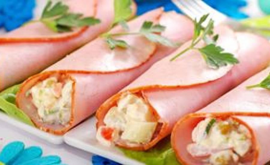 TounsiaNet : Roulés de jambon à la mayonnaise
