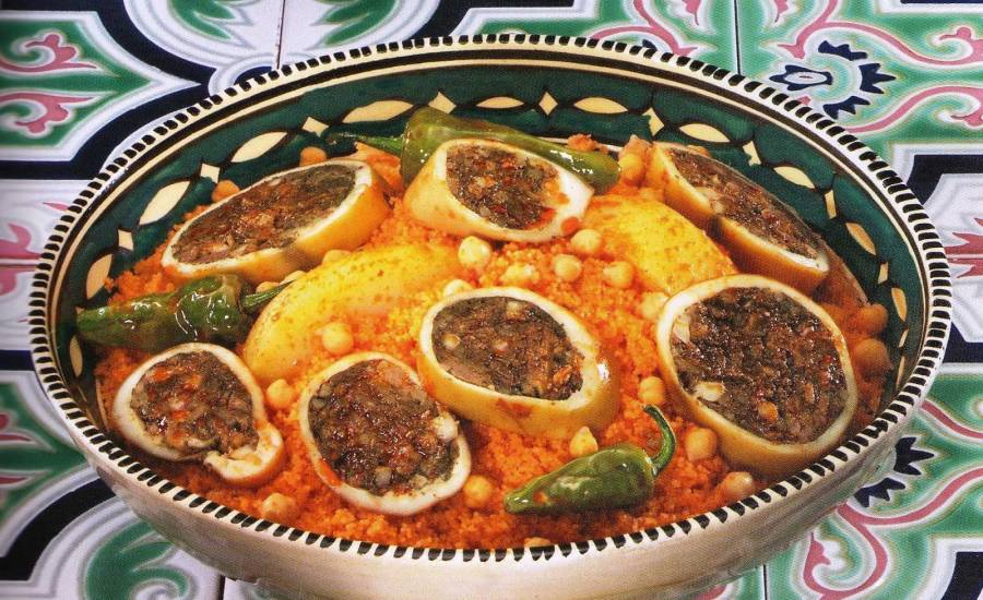 TounsiaNet : Couscous aux calamars farcis