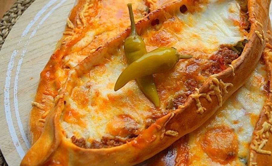 TounsiaNet : Pizza turque à la viande hachée Pide