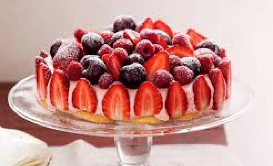 TounsiaNet : Tarte à la crème glacée et aux fruits
