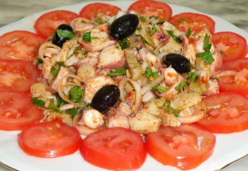 "tounsia.Net : salade de poulpe""slatet 9arnit"""