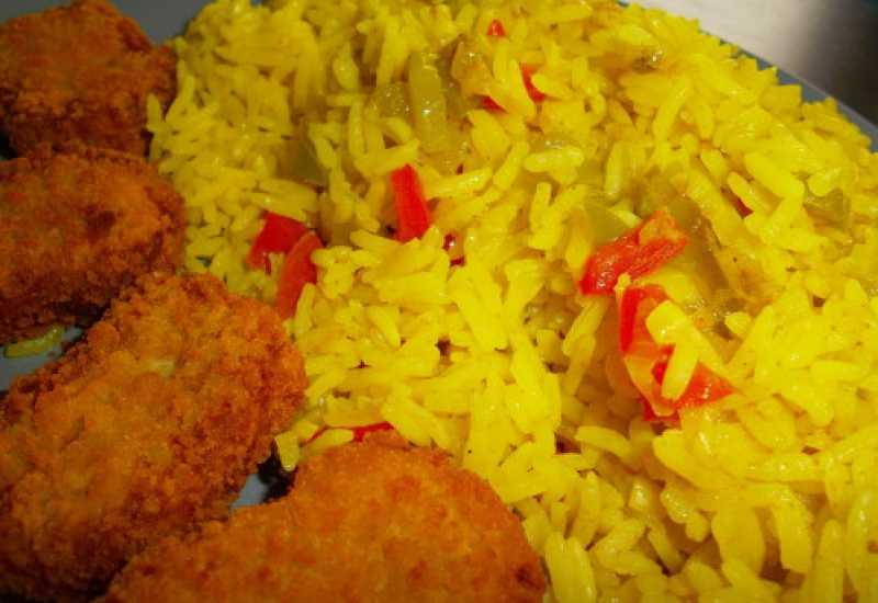 """tounsia.Net : riz à l'escalope et les champignons """"rouz az3er"""""""
