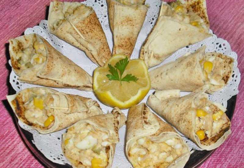 tounsia.Net : Cornets de pain libanais au thon