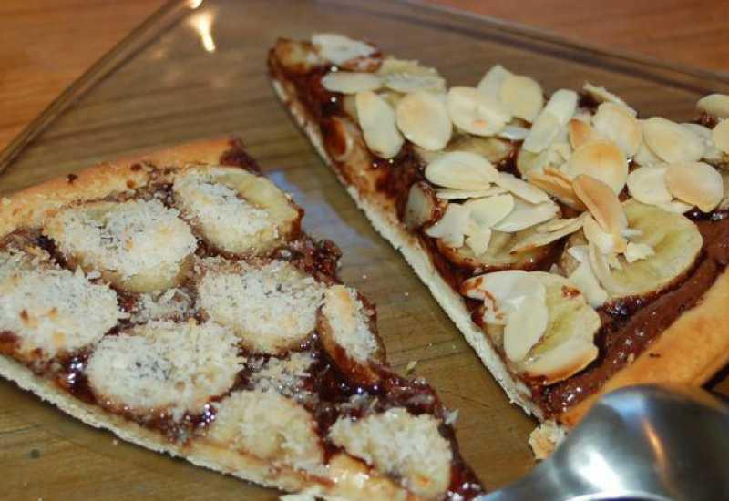 tounsia.Net : Pizza sucrée nutella-banane