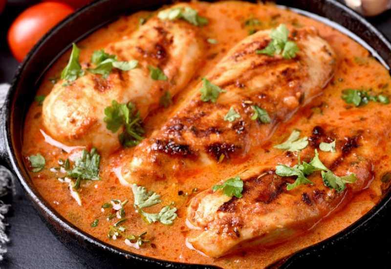 tounsia.Net : Poulet sauce à la crème et tomates