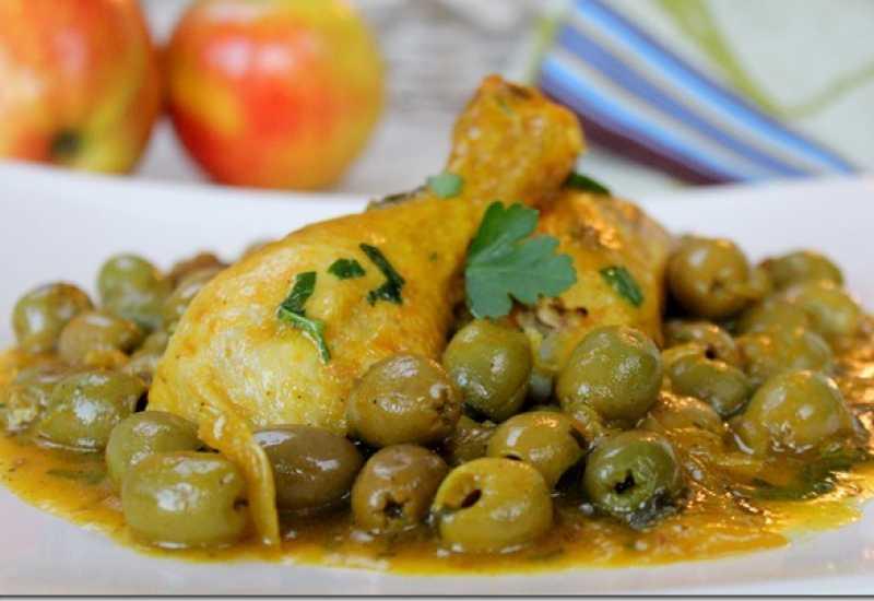 tounsia.Net : Poulet aux olives