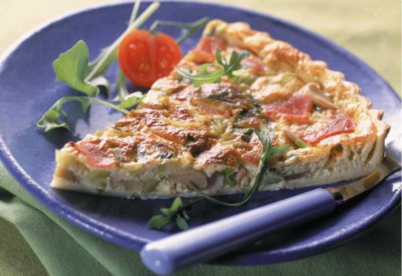 tounsia.Net : Tarte aux poulet, tomate et champignons
