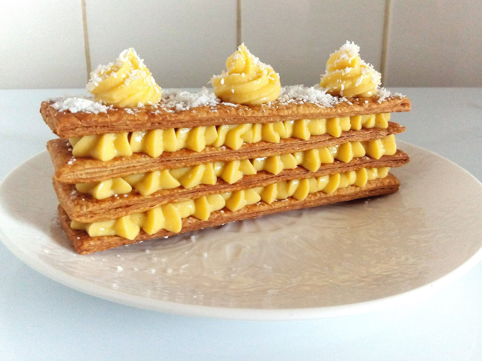 tounsia.Net : Mille-feuille citron gingembre